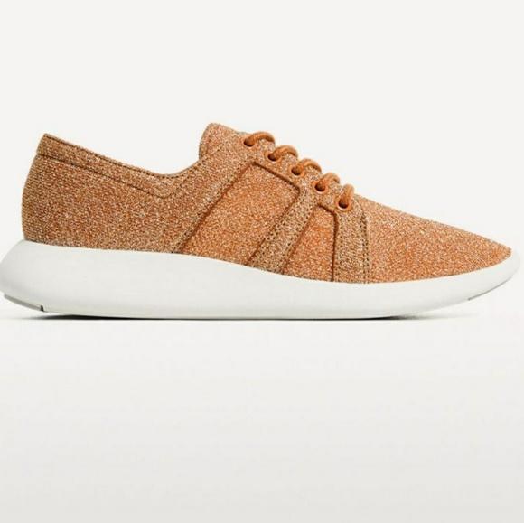 Zara Shoes | Zara Glitter Sneakers
